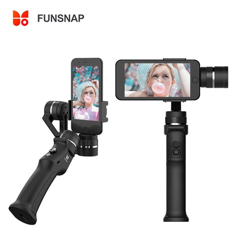 Funsnap захвата 3-х осевой ручной шарнирный стабилизатор для смартфонов GoPro 6 SJcam xiaoyi 4k Камера не DJI Осмо 2 ZHIYUN FEIYUTECH
