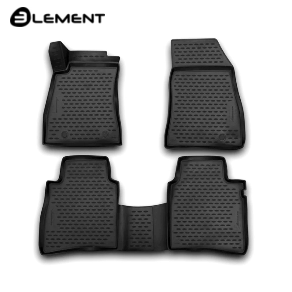 For Nissan Tiida II 2015-2018 3D floor mats into saloon 4 pcs/set Element NLC3656210K