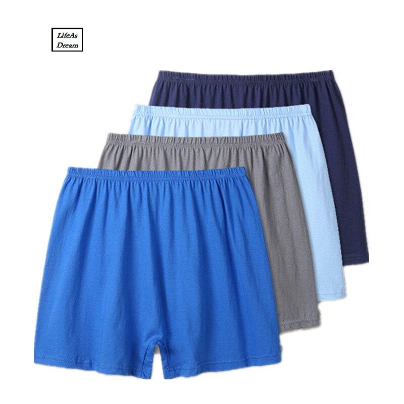 2018 Fashion Mens 4Pcs\lot Underwear Boxers Cotton Boxer Men Sexy Boxer Mens Underwear Soft And Comfortable