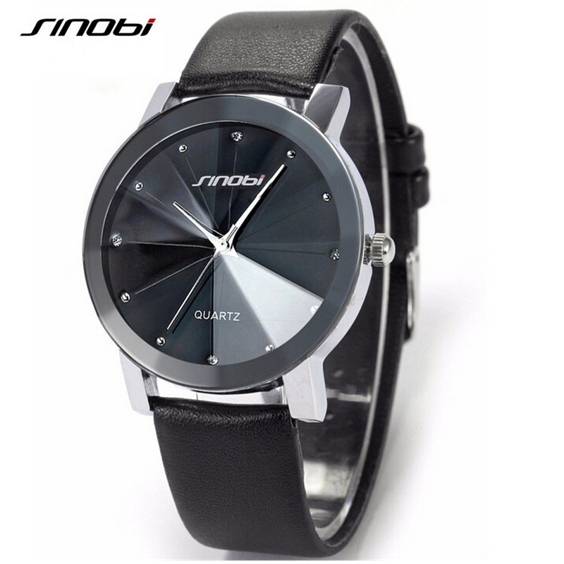 SINOBI Luxury Casual Diamond Male Elegant Female Clock Man Woman Lady Wrist Watches Dress Wrist Watch Limited Edition Reloj Gift