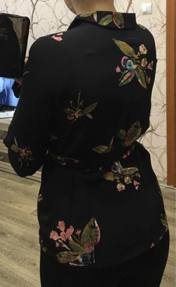Блузка-пиджак с цветочным принтом отзыв