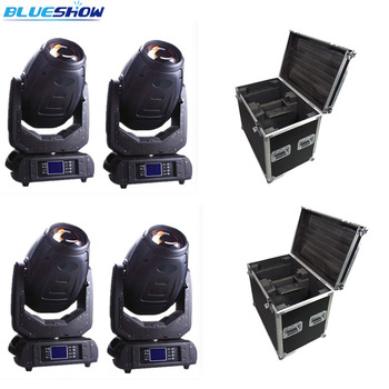 אין מס מותאם אישית, 4 pcs/flightcase נבל Sharpy 280 w 10r קרן ספוט לשטוף הזזת ראש אור 3in1 LED שלב תאורה