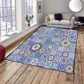 Sonst Blau Braun Türkische Vintage Ottomane Design 3d Print Non Slip Mikrofaser Wohnzimmer Dekorative Moderne Waschbar Bereich Teppich Matte