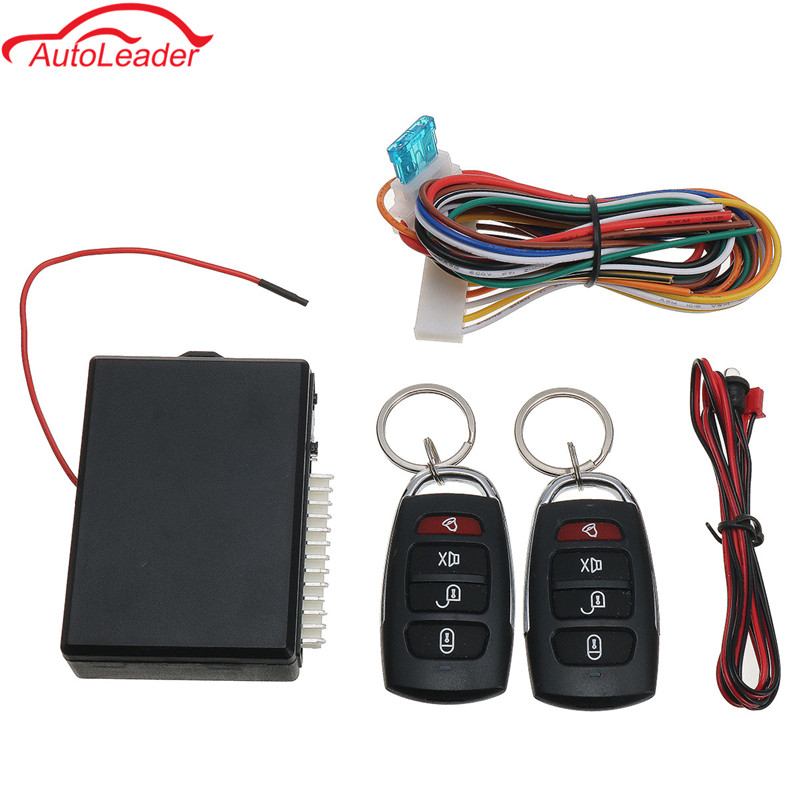 Universal Car Auto Alarm Remote Central Kit Door Lock Locking Vehicle Keyless Entry System Start Stop With 2 Remote Controllers