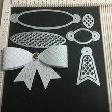 3Pcs bow tie set Metal Cutting Dies Scrapbooking Embossing Cut Stencils DIY Album book Decor 56*32mm