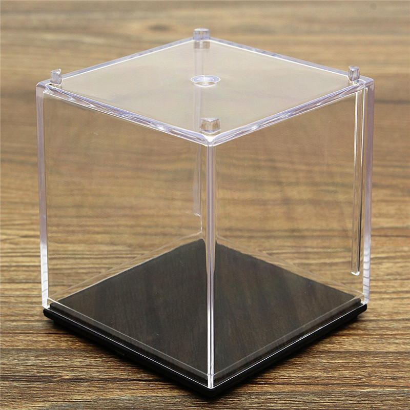 Portable Mini 5x5x5cm Clear Acrylic Plastic Display Box ShowCase Dustproof  Tray Protection Cube For Model Ornament Craft In Bottles, Jars U0026 Boxes From  Home ...