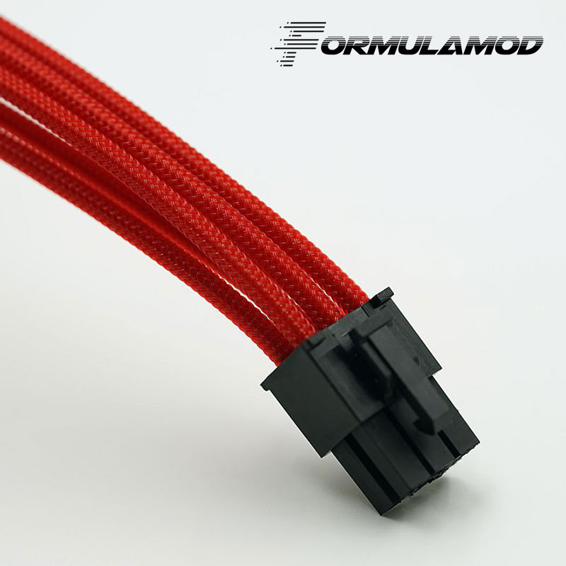 FormulaMod Fm-PCI6P-A, PCI-E 6Pin GPU удлинитель питания, материнская плата 18AWG 6Pin многоцветные соответствующие кабели расширения - Цвет лезвия: Red