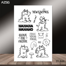 AZSG A naughty crocodile Clear Stamps for DIY Scrapbooking/photo Album Decorative Craft Stamp Chapte