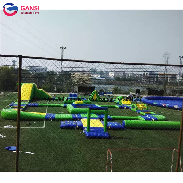 Guangzhou outdoor commercial inflatable water park for sale, floating inflatable water park games