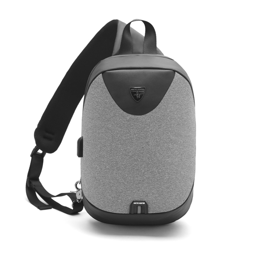 Destone Sling Bag Anti Theft Chest Pack Crossbody Casual Lightweight with USB Charging Port Shoulder Bag for Men Women Travel