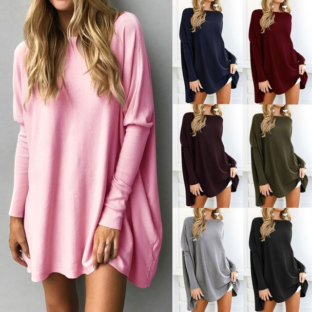 Celmia 2018 Women Long Sleeve Shirt Autumn Knitted Pullover Female O Neck Casual Top Solid Tee Plus Size 5XL Jumper Sueter Mujer