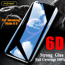 6D Full Curved Tempered Glass For samsung note 8 9 tempered glass For note 8 9 accessories screen protector Edge Protective Film стоимость