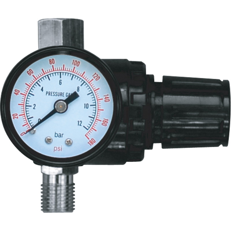Pressure regulator with pressure gauge KRATON (Mini Regulator) cbn e314l gear pump the left rotation splined shaft long shaft with no flange no end oil outlet