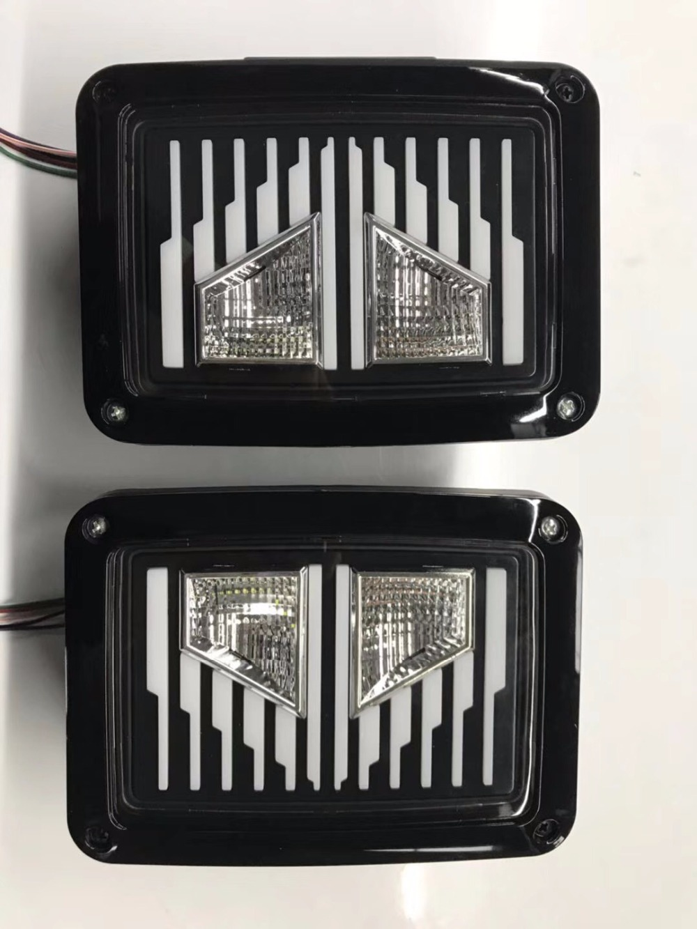1pair Smoked LED Tail Lights 2007-2017 For Jeep Wrangler Tail Light Brake Reverse Light Rear Back Up Turn Singal Lamp Daytime led tail lights smoked red taillights tail brake light reserve light real back up turn signal lamp for jeep wrangler accessories