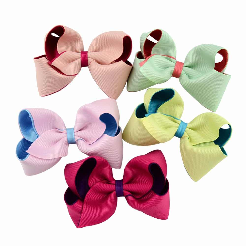 """Hair Bow Accessories Chiffon Yellow Grosgrain Hair Clip Girls Small 5.5/"""" Bow"""