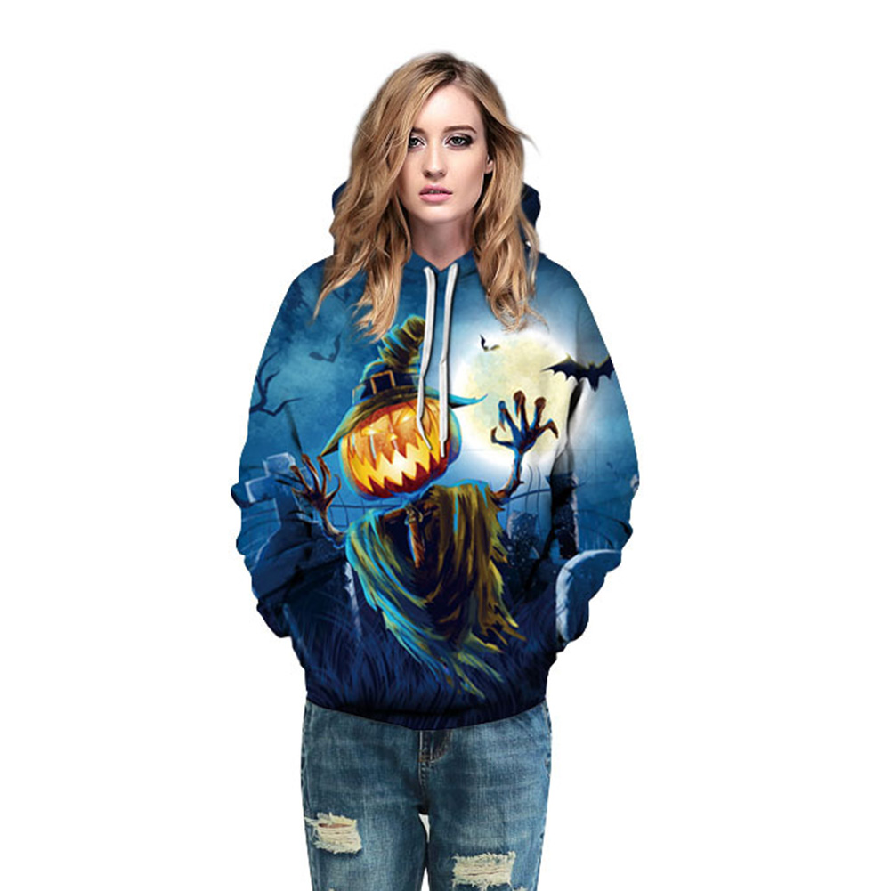2017 Funny Pumpkin 3d Hoodies Halloween harajuku style Women/Men Sweatshirt Hooded Print casual Pullovers