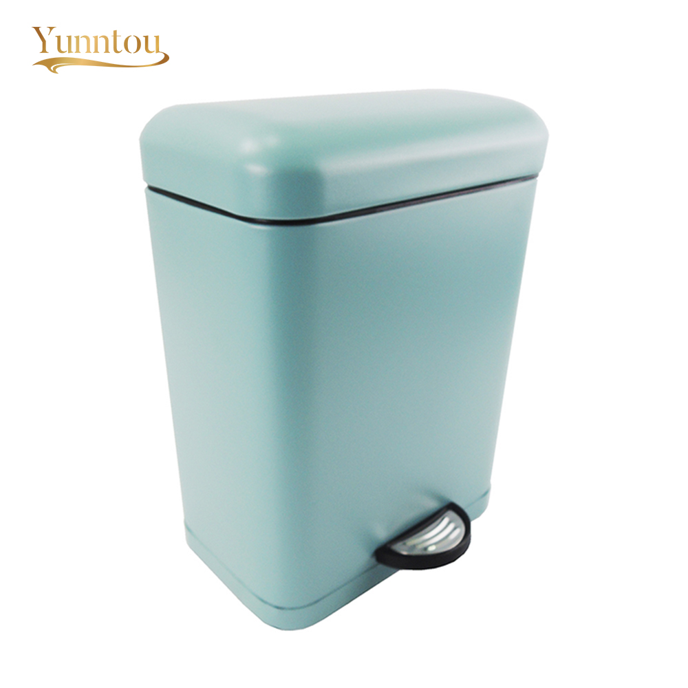 Rectangle Trash Can Office Home Bathroom Kitchen Waste Bin 5L ...