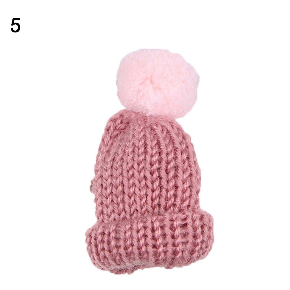 Moda de Punto Pom Pom Sombrero Broche de Navidad Mujeres Suéter ...