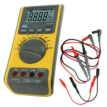 Digital Multimeter Auto Range Test Leads AC/DC with PC Software Connection Multifunction Tool Thermometer Resistance Capacitance