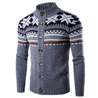 New Chic Autumn Winter Cardigan Sweater Mens Long Sleeve Sweaters Jacket Casual Christmas Knitted Male Sweater