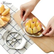 OYOURLIFE 1pc kitchen Stainless Steel Apple Slicers Separator Coring Splitter Cutter Apple Shredders Fruit Vegetable Tools стоимость