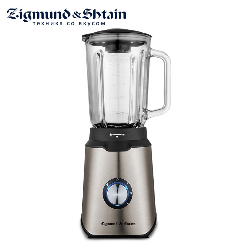 Zigmund & Shtain BS-438D Blender Hand kitchen 900W 1.5L Mixer Food processor Household use 3 modes Eco glass цена
