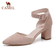 CAMEL Sping New Ladies Elegant High Heel Sandals Women Casual Point Toe Party Dress Single Shoes For Ladies Thin Heel Pumps(China)