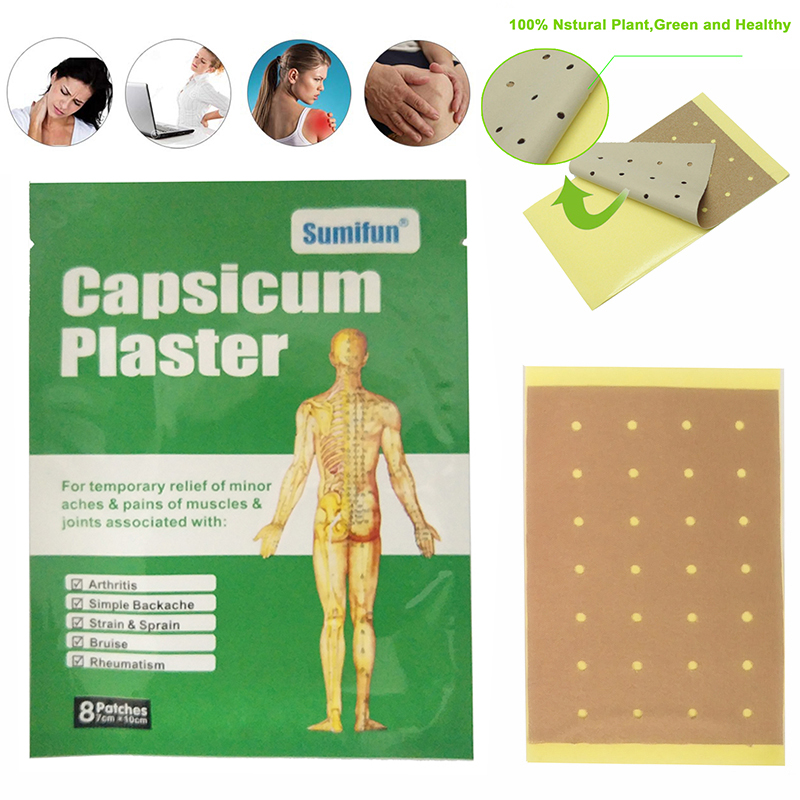 16 Pcs Capsicum Plaster Pain Patch Heat Pads for Pain Relief Medical Herbal Heating Patch for Back Joint Pains Capsicum Plaster 10 pcs 100% herbal zb pain relief patch orthopedic plaster muscle massage relaxation herbs medical health care joint pain killer