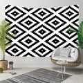 אחר שחור לבן אריחי Nordec ikat דמשק עיצוב 3D הדפסת דקורטיבי Hippi בוהמי קיר תליית נוף שטיח קיר אמנות