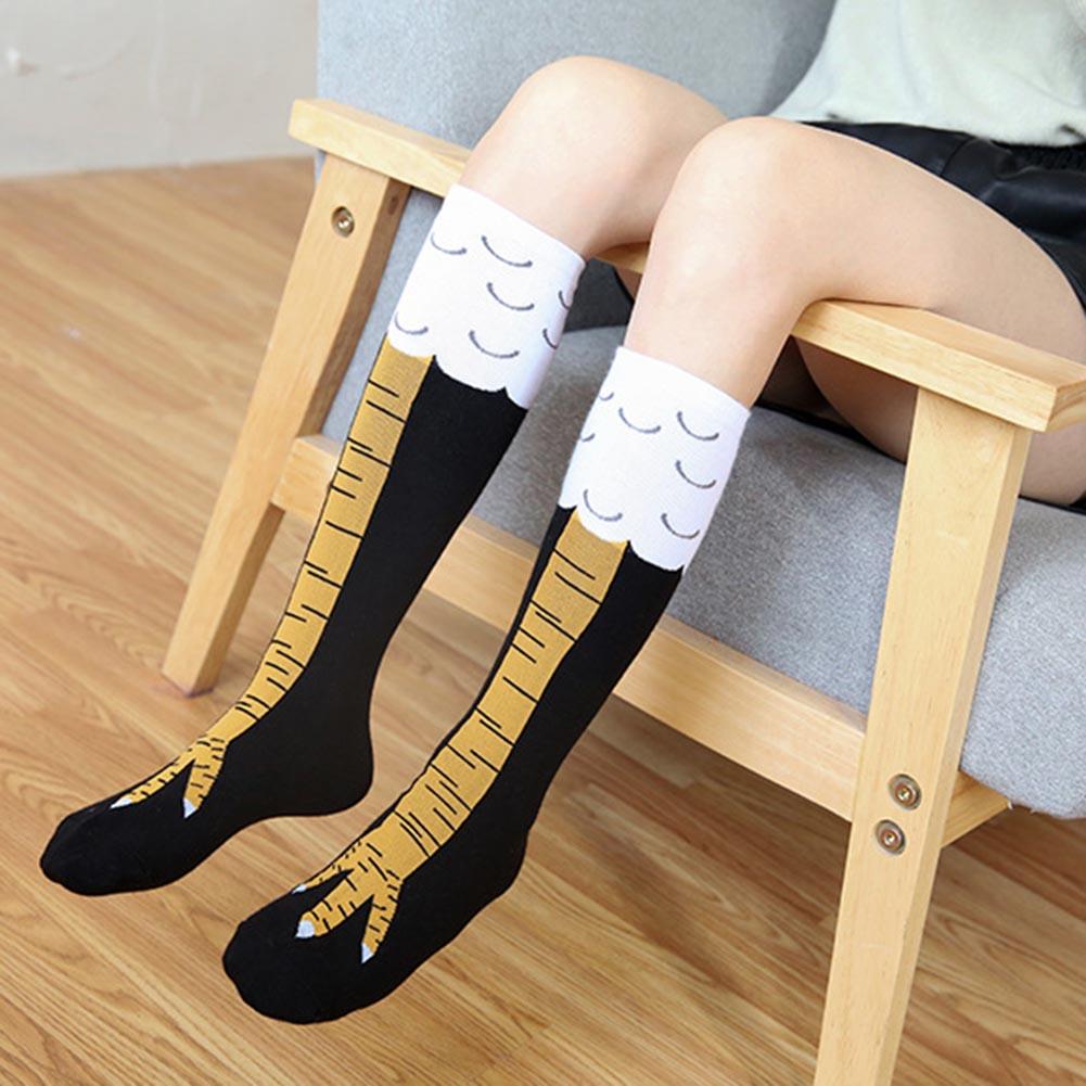 1Pair Creative Socks with Chicken Print Toe Women Fashion Winter Autumn Socks Chicken Toe Feet Ladies 3D Cartoon Animal Socks
