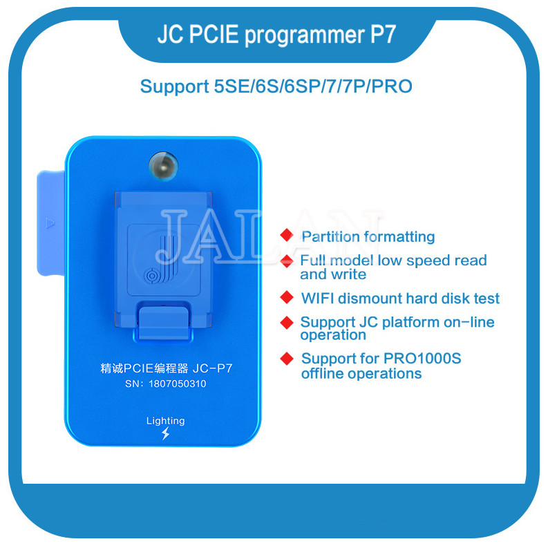 <font><b>JC</b></font> <font><b>NAND</b></font> generation hard disk repair equipment chip read write adapter For iPad iPhone Flash Memory IC Programmer Pro1000S image