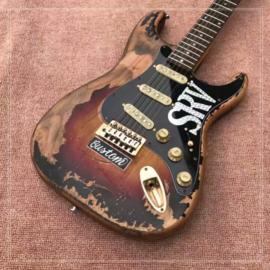 bad dog custom shop limited edition Masterbuilt srv stevie ray vaughan tribute electric guitar free shipping stevie ray vaughan