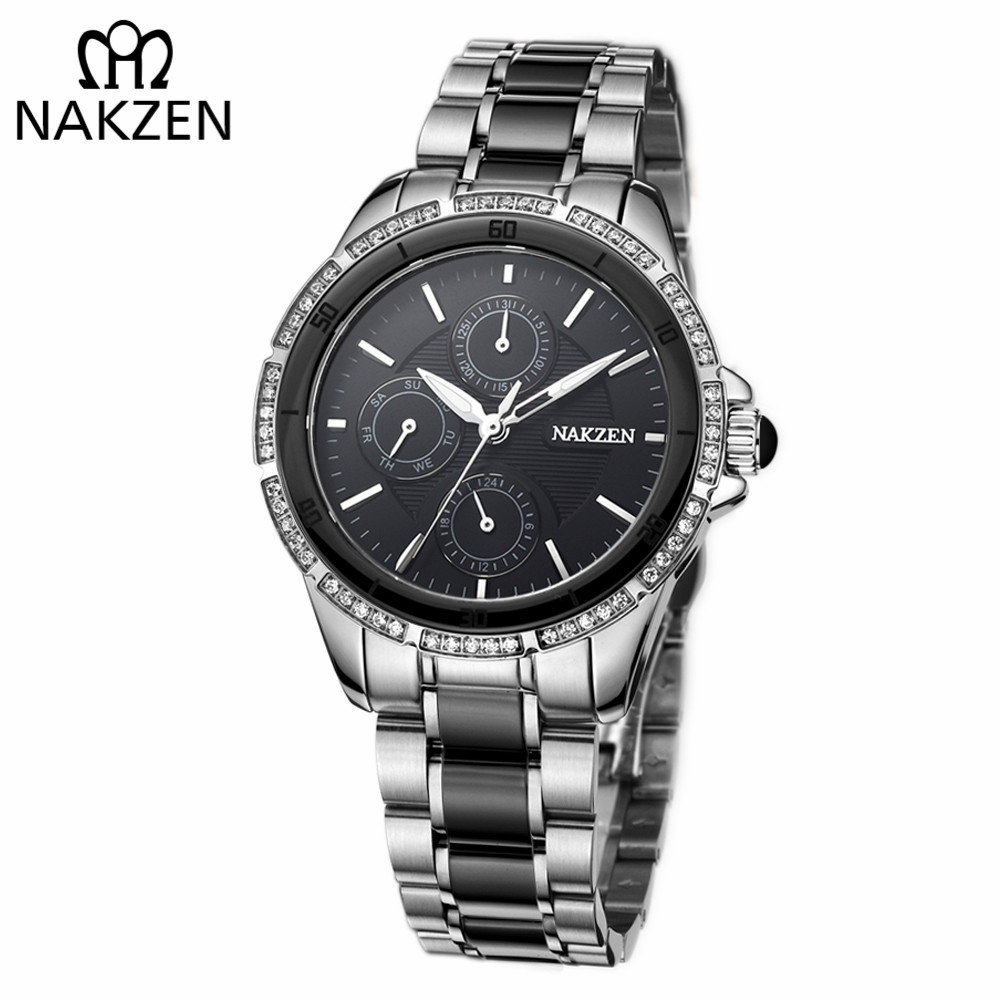 NAKZEN Women Luxury Brand Quartz Watch Waterproof Casual Dress Diamond Wristwatches Ladies Edifice Watch Clock Relogio FemininoNAKZEN Women Luxury Brand Quartz Watch Waterproof Casual Dress Diamond Wristwatches Ladies Edifice Watch Clock Relogio Feminino