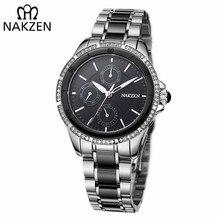 NAKZEN Women Luxury Brand Quartz Watch Waterproof Casual Dress Diamond Wristwatches Ladies Edifice Watch Clock Relogio Feminino