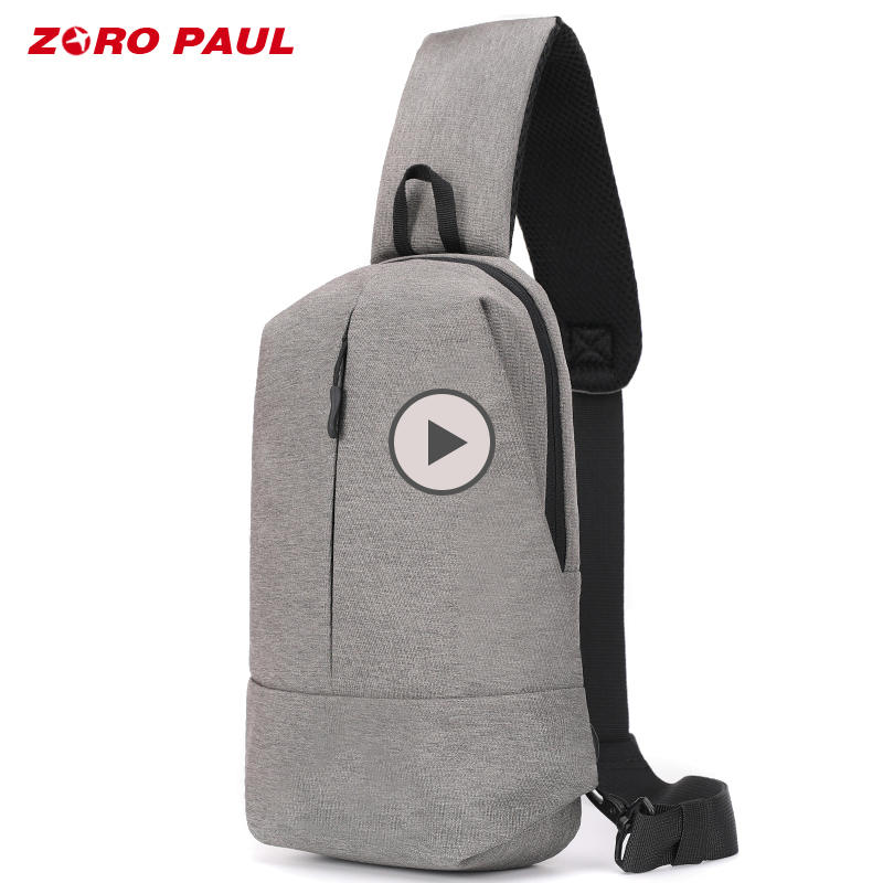 ZORO PAUL Nylon Shoulder Bag Men Casual Travel Man Chest Bag Waterproof Anti theft Crossbody Messenger Bags for Men сумка zoro paul zr1901 3