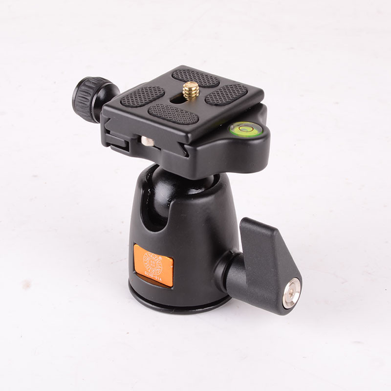 New 360 Degree Rotate Tripod Monopod Ball Head Camera Ballhead with Quick Release Plate for Panoramas Shoot
