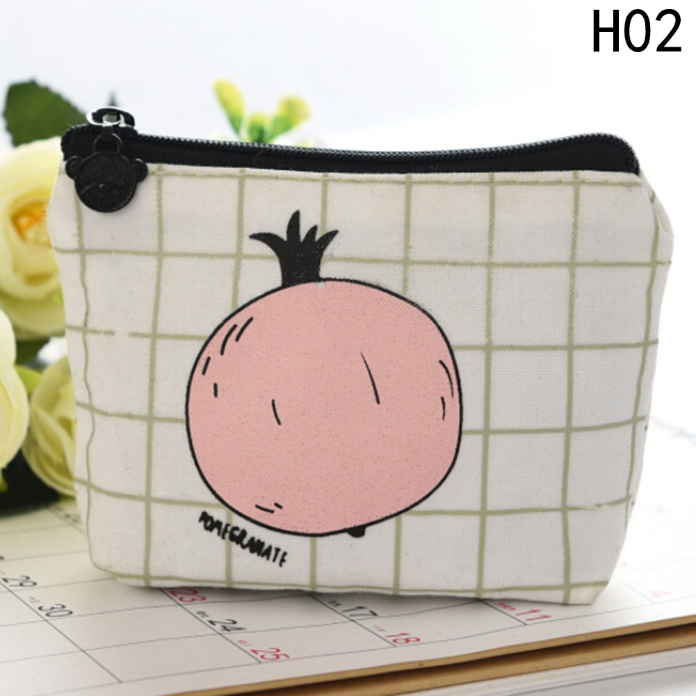 Fashion Fruits Pattern Coin Purse Cartoon Dollar Money Bag Summer New Brand Leather Purses Small Fresh Casual Coin Wallet Lady