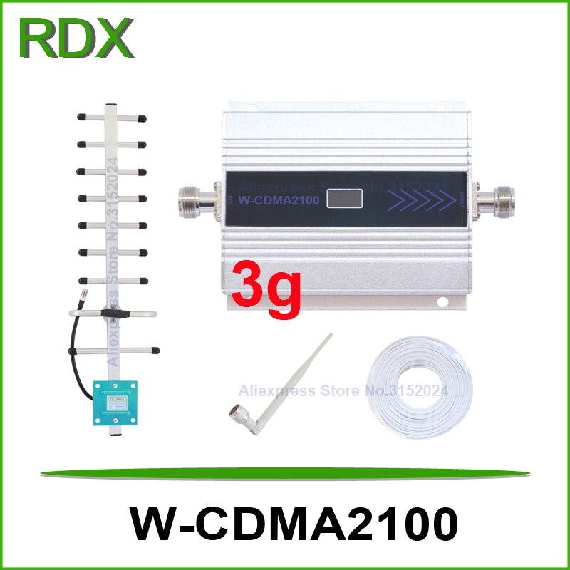 Полный комплект ЖК-дисплей 3 г ретранслятор сигнала для мобильного телефона WCDMA 2100 мГц UMTS 3 г усилитель сигнала с Omni-направление Крытый антен...