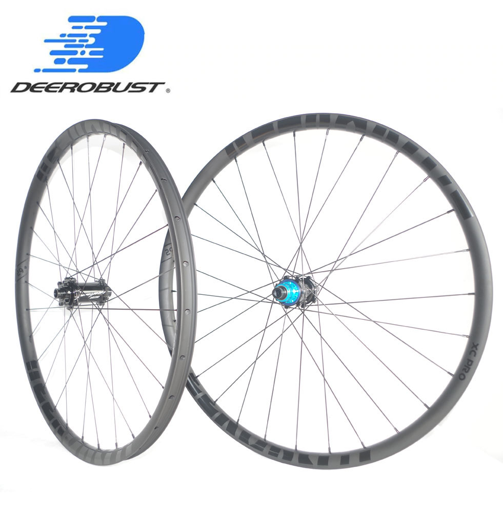 1259g BOOST 29er MTB XC Race 24mm x 30mm Asymmetric Hookless Clincher Tubeless 29″ Mountain Bike Carbon Wheels 28 28 Holes