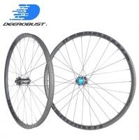 1259g BOOST 29er MTB XC Race 24mm x 30mm Asymmetric Hookless Clincher Tubeless 29 Mountain Bike Carbon Wheels 28 28 Holes