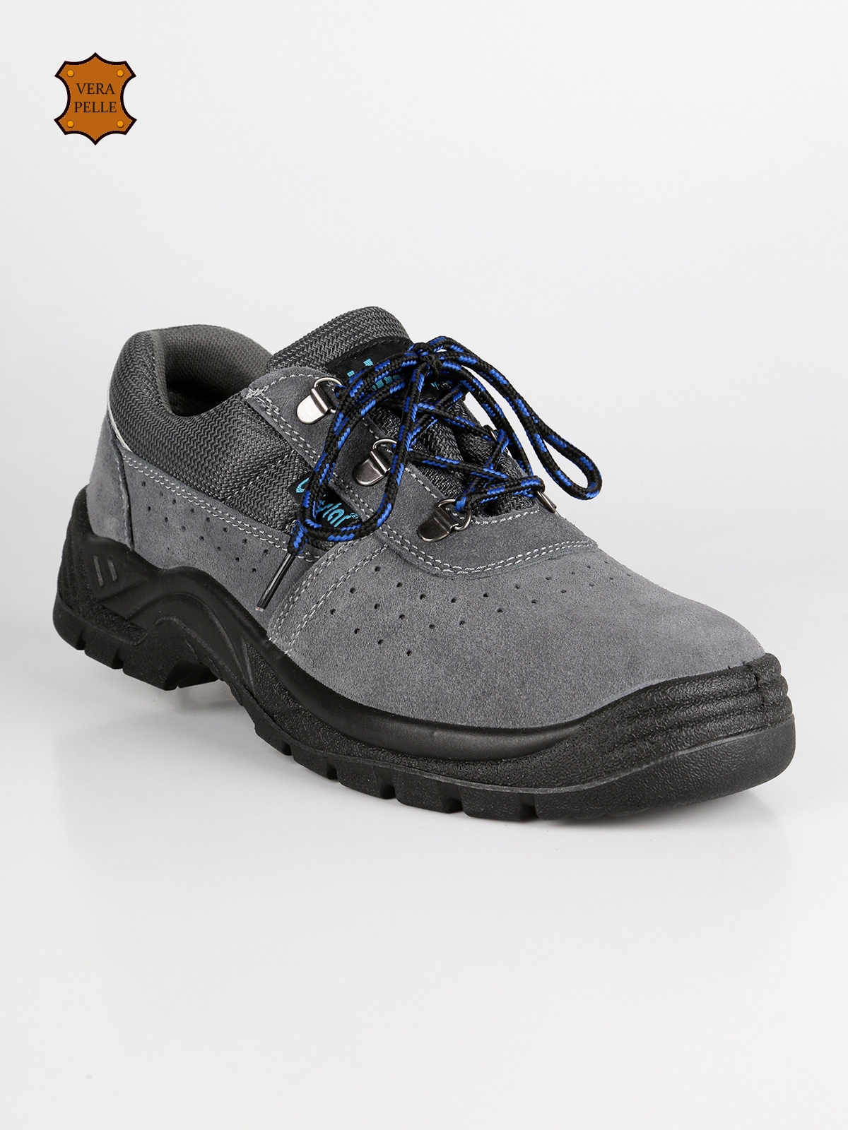 Safety Shoes Leather Camosciata-Gray