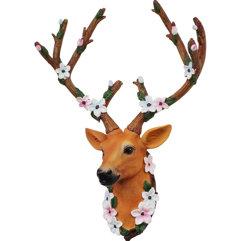 American pastoral deer wall home entrance porch wall decorations restaurant retro wall pendant