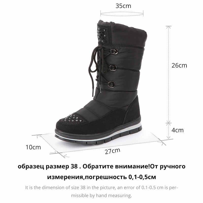 GOGC 2019 sonbahar kış kadın botları kışlık botlar kadın yüksek çizmeler ayakkabı kadın kar botları su geçirmez botlar kadınlar için G9815