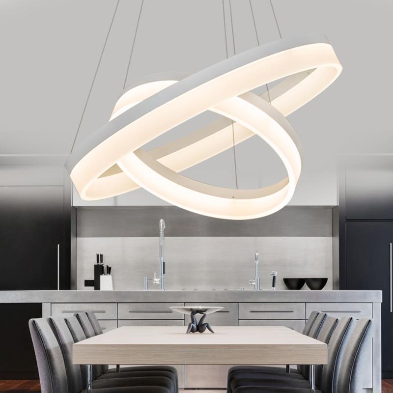 Luxury Modern chandelier LED circle ring chandelier light for living room Acrylic Lustre Chandelier Lighting white sliver modern led lustre chandelier luxury ring