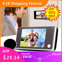 3,5 дюймов ЖК цветной экран цифровой дверной звонок 120 градусов дверной глазок дверной звонок Электронный дверной видео звонок дверное устро...
