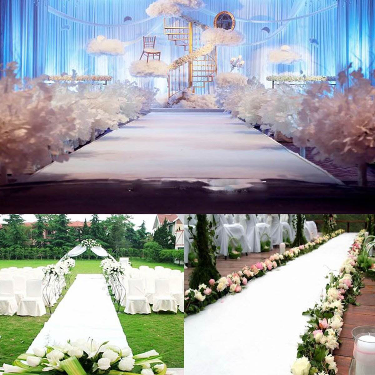White Carpet 10x1m Wedding Aisle Floor Runner Hollywood Awards Party Decoration Polyester Rug Events Supplies In From Home