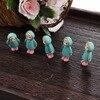 5PCS/Lot Mini Girl Fairy Garden Figurines Miniature Resin Art Crafts Ornament Landescape Moss Home Wedding Decorations