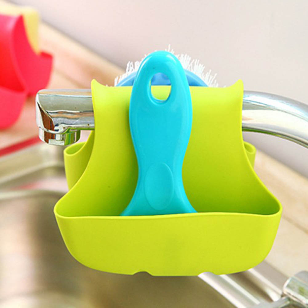 Super Double Sink Caddy Sponge Holder Saddle Strainer Organizer Storage Rack bathroom Kitchen