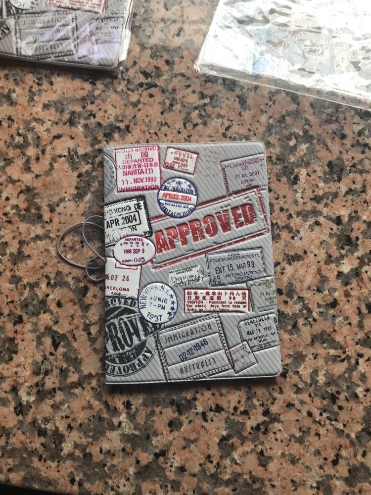 Gepersonaliseerde creatieve multifunctionele documententas PU & PVC paspoort Cover, visitekaart-ID-houders voor reizen photo review