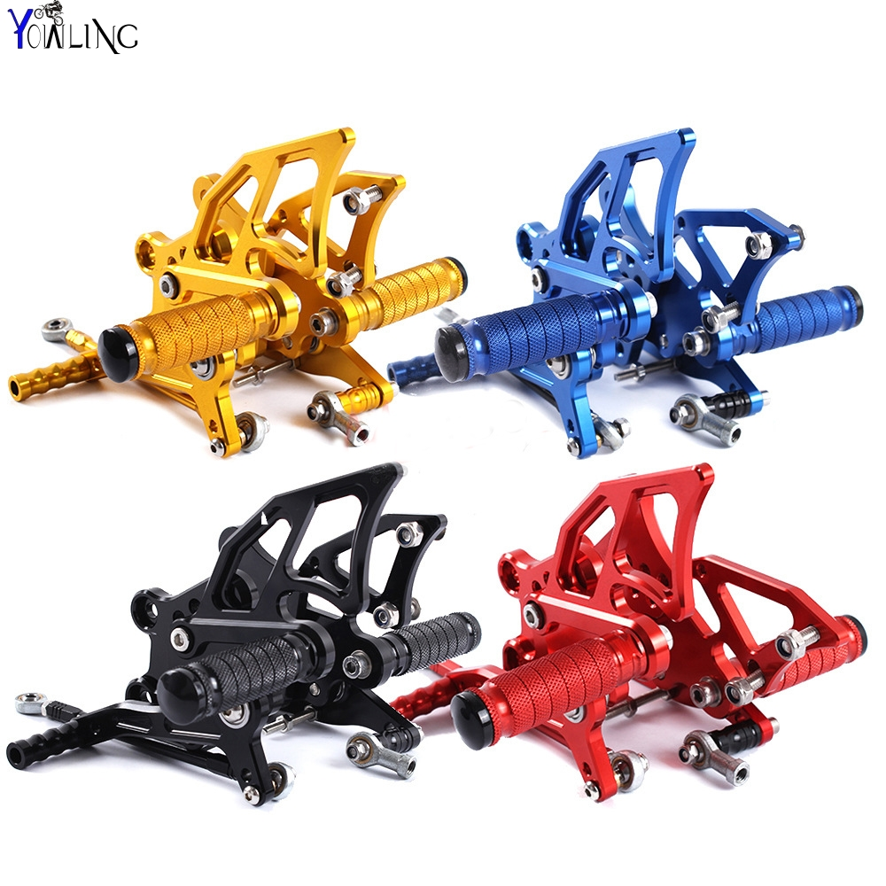 CNC Aluminum Motorcycle Accessories Fairing Rear Foot Pegs footrests Moto for Yamaha yzf-r1 yzf r1 2009 2010 2011 2012 2013 2014 car rear trunk security shield cargo cover for jeep compass 2007 2008 2009 2010 2011 high qualit auto accessories